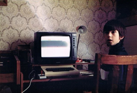 Me as a Child with the Family Dragon 32 Computer