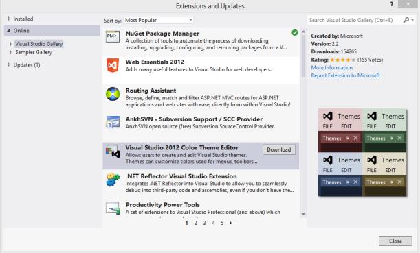 Visual Studio Theme Editor