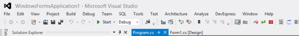 Visual Studio Lower Case Menus