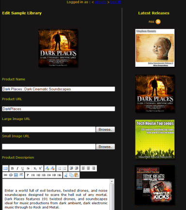 Haunted House Records : Content Management System