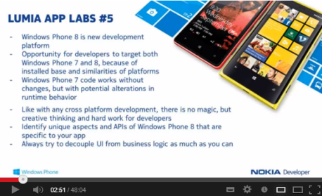 Nokia Developer Training Videos for Microsoft