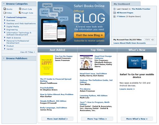 Safari Books Online - Online book library