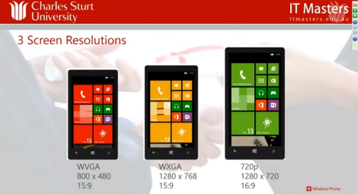 Developing Applications for Windows Phone 8 : Charles Sturt University