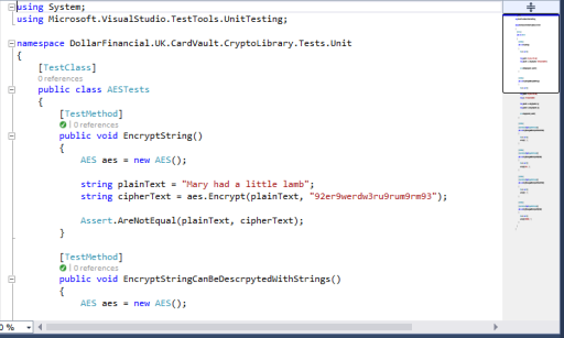 Visual Studio 2013 Code Preview Scroll Bar