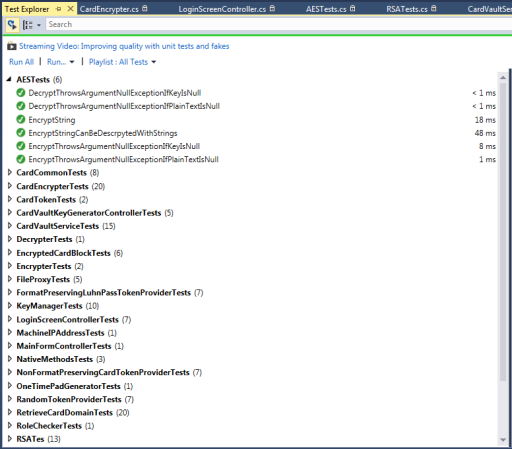 Visual Studio 2013 Group Tests by Class in Test Explorer