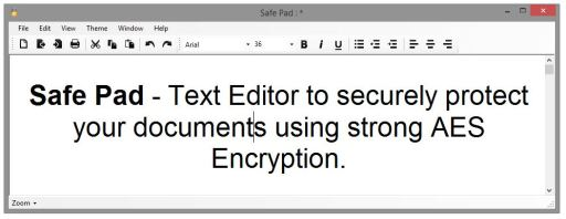 Safe Pad 1.2 : Encrypted Notepad Editor