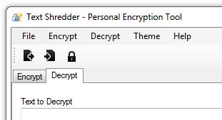Decrypt Tab in Text Shredder