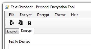 Decrypt Tab in Text Shredder