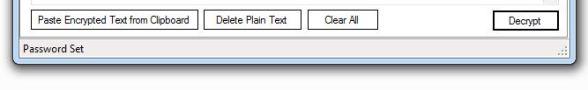 Decryption Buttons in Text Shredder
