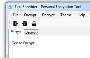 Encrypt Tab in Text Shredder
