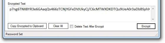 Encrypted Text in Text Shredder