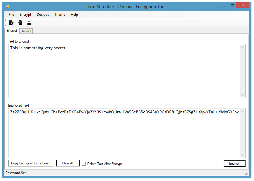 Text Shredder - Text Encryption Tool - CodePlex Archive