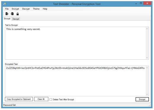 Text Shredder : A Personal Encryption Tool