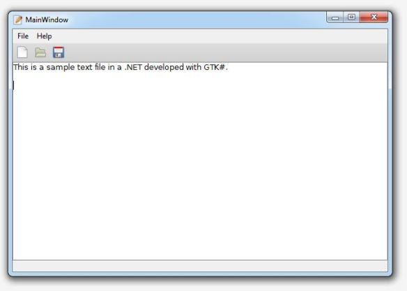 Application running on Windows