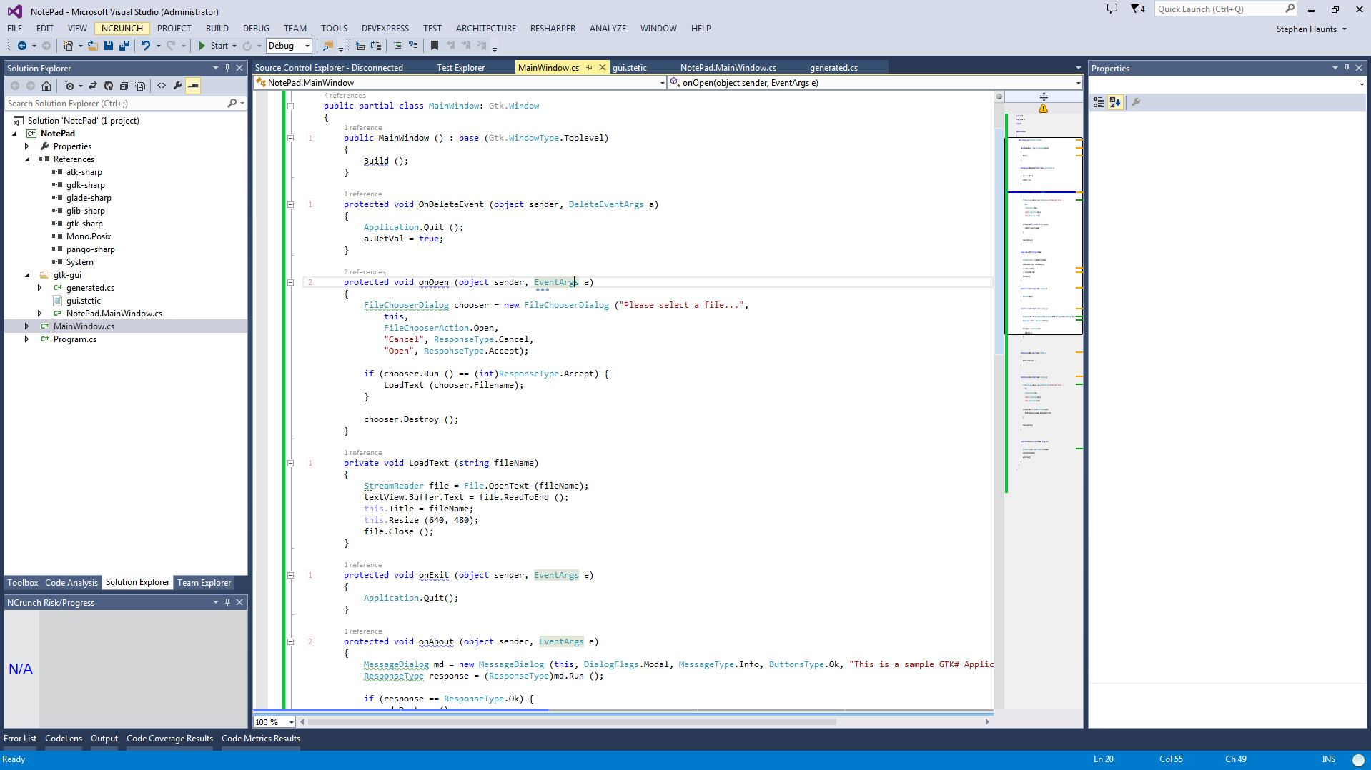 Visual Studio Gtk Designer