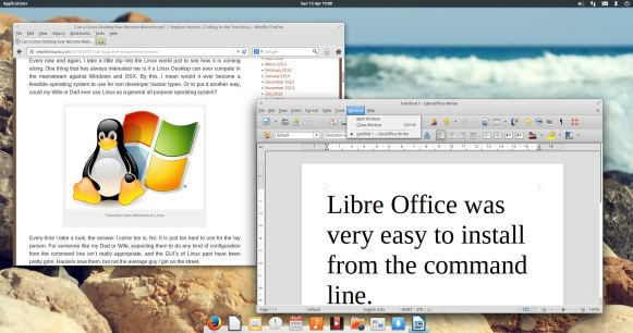 Elementary OS - Firefox and Libre Office