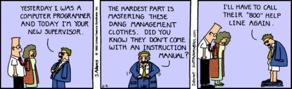 Dilbert : Programmer to Supervisor
