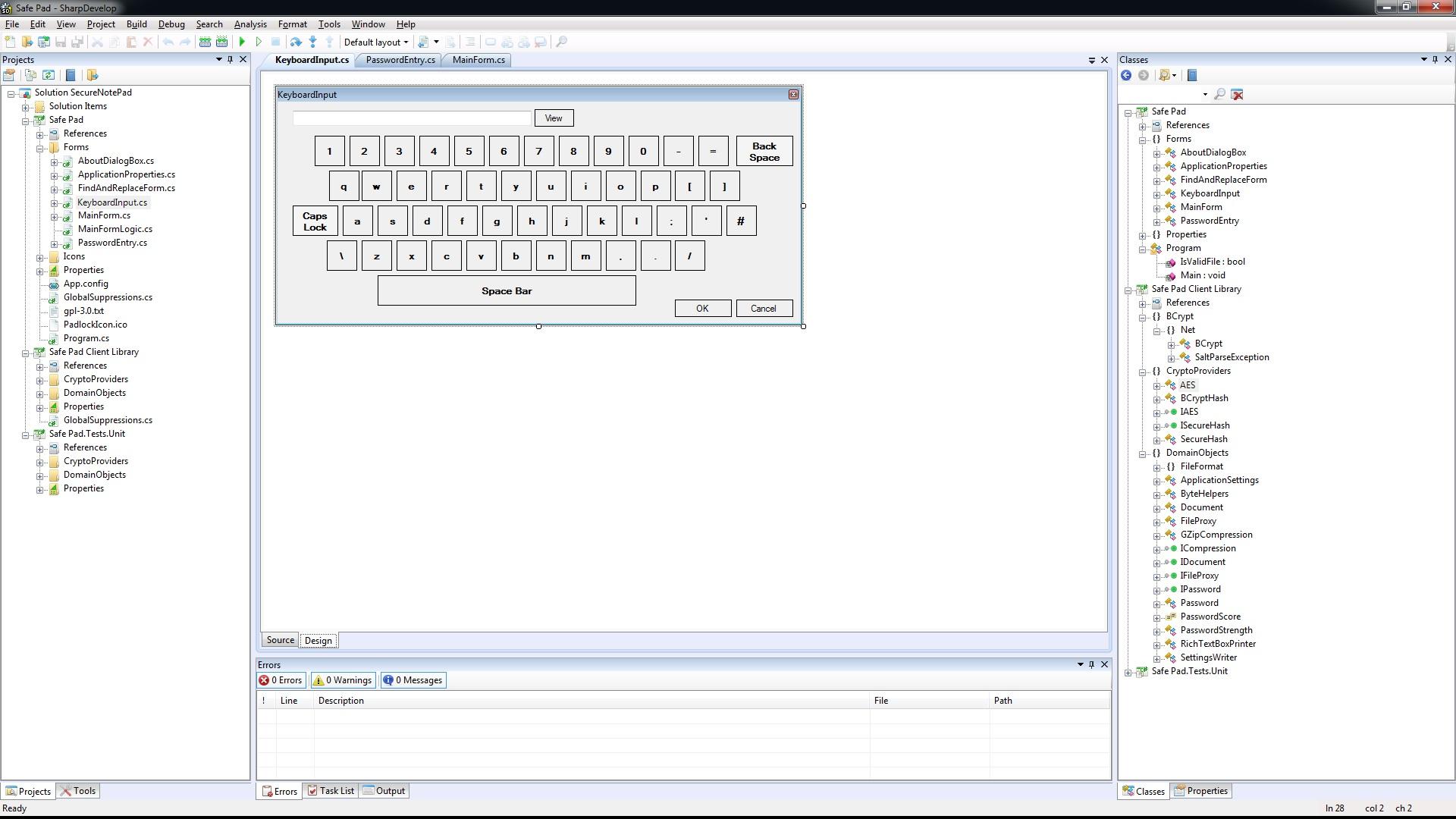 Visual Studio Form Designer Error