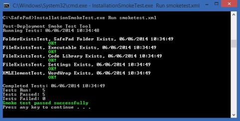 Run Smoke Tests from the Command Line