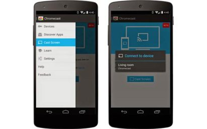 Cast a Screen to the Google Chromecast