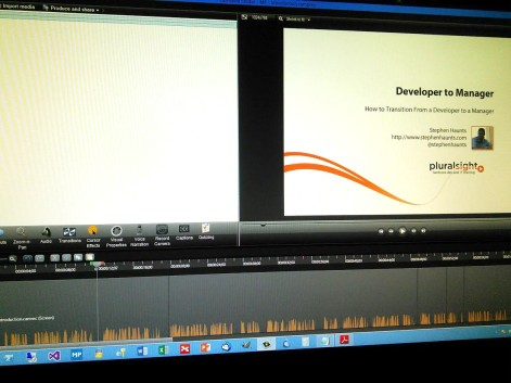 Pluralsight Course Being Edited in Camtasia