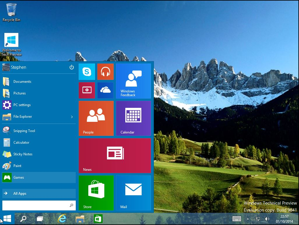 Windows 10 Technical Preview Stephen Haunts Coding In