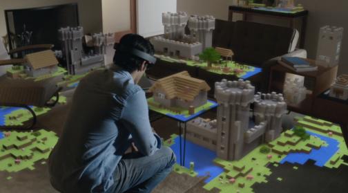 Microsoft Hololens Minecraft Demo