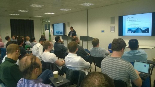 Stephen Haunts talking at the Leeds Sharp Usergroup