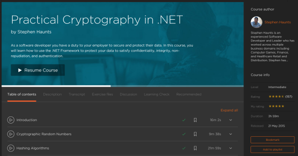 Courses by Stephen Haunts at Pluralsight