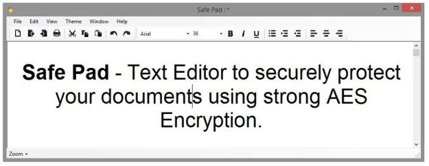 SafePad - The Encrypted Text Editor