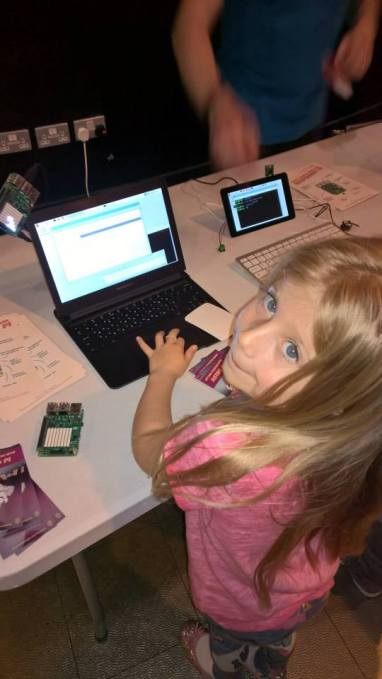 My daughters first programming experience.