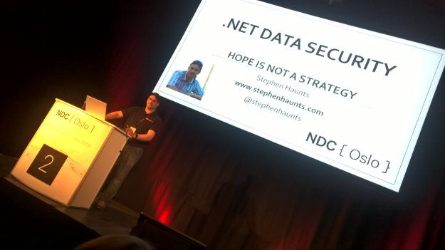 Stephen Haunts Presenting at NDC Oslo