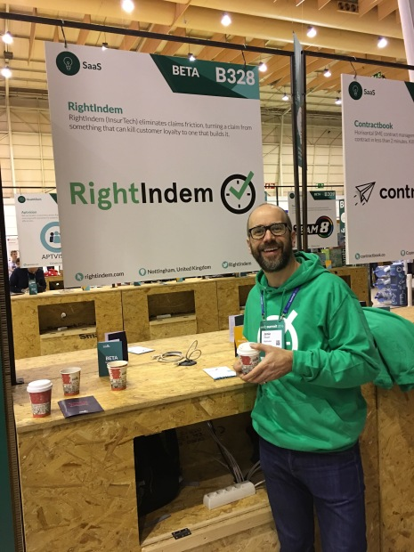 The RightIndem stand at Web Summit 2016