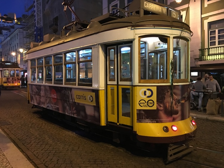 Tram services running throughout Lisbon City