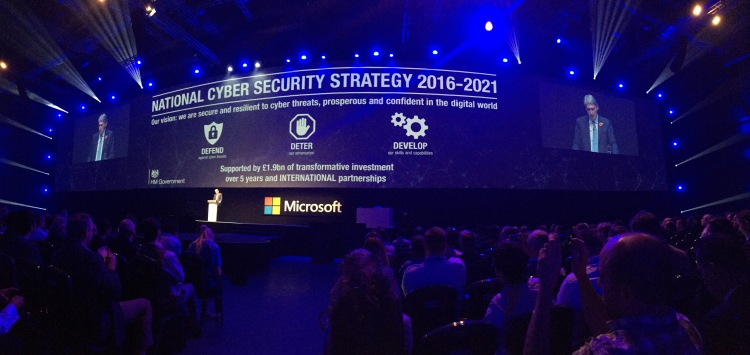 Microsoft Future Decoded - Phil Hammond Announcing the UK Cyber Security Strategy