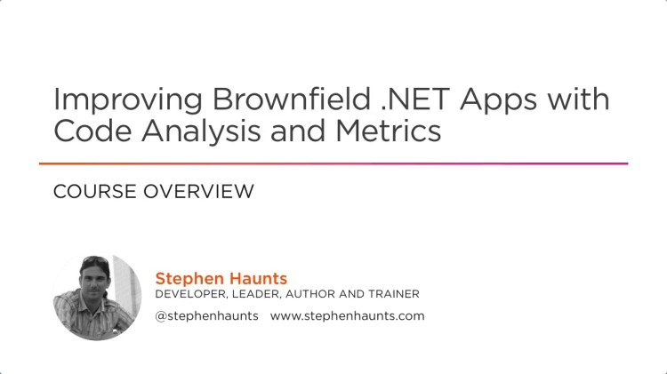 New Pluralsight Course on Code Metrics and Static Code Analysis Released